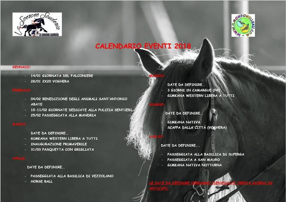 calendario 2018 due colonne
